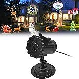 Signstek LED IP44 Weihnachtsbeleuchtung, Projektionslampe Projektor Dekoration Lampe, Projektionslampe Halloween mit 16 austauschbaren Linse für Weihnachten, Geburtstag, Hochzeit