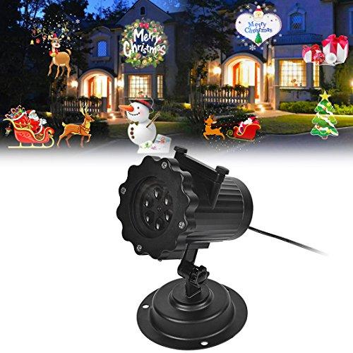 Signstek LED IP44 Weihnachtsbeleuchtung, Projektionslampe Projektor Dekoration Lampe, Projektionslampe Halloween mit 16 austauschbaren Linse für Weihnachten, Geburtstag, - Tage 11 Halloween Bis