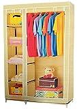 Bros 3.5 Feet Folding Wardrobe Cupboard Almirah Foldable Storage Rack Collapsible Cabinet