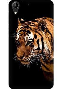 AMEZ designer printed 3d premium high quality back case cover for HTC Desire 728 (Tiger dark animal love nature)