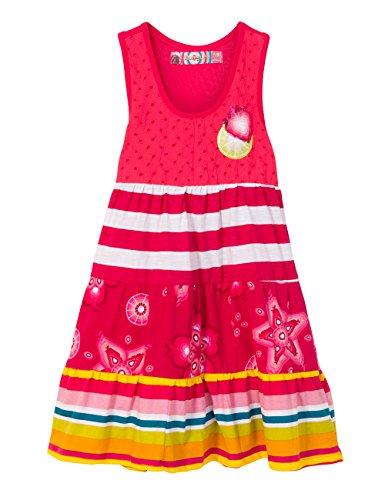 Desigual Vest_Kampala, Vestito Bambina, Rosso (Azalea 3135), 8 anni (Taglia Produttore: 7/8)