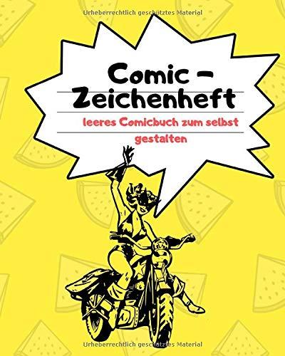 Comic Zeichenheft leeres Comicbuch zum selbst gestalten.: Erstellen Sie Ihre eigenes Comic. Zeichen sie ihren eigenen Cartoon (8 x 10 / 20.96 x 25.72 cm) 108 Seiten