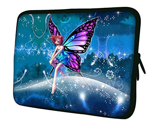 """Ektor Hülle/Sleeve / Tasche für 25,4-44,7 cm (10-17,6 Zoll) Laptops/Notebooks, in unterschiedlichen Mustern und Größen erhältlich (Teil 2 von 3) Rosa Fee 13"""" (250x330mm)"""