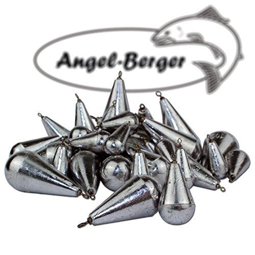 Angel-Berger Birnenblei mit Wirbel Angelblei Blei (80g)