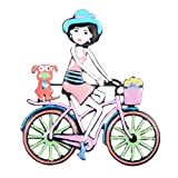 CCJIAC Schmuck Puppe Bike Pin Brosche Party Hochzeit Schmuck Weihnachten Hijab Zubehör Frauen...