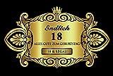 Oblique-Unique® Aufkleber Flaschenetikett Etikett 18 Geburtstag gold elegant