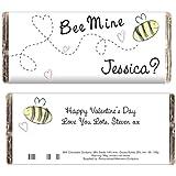 Personalisierte 'Bee Mine'- Schokolade, personalisierbar mit beliebigen Text-für eine tolle Hochzeit, Jahrestag oder Valentinstag Geschenk!