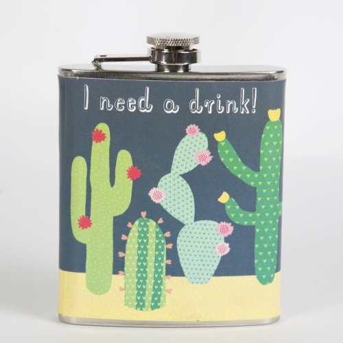 sass-belle-colourful-cactus-hip-flask-multi-colour