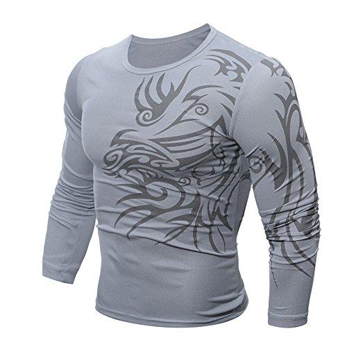 (DEELIN Sweatshirts Mens Autumn Winter Casual Zipper Long Sleeve Pullover Sweatshirt Hoodie Coat Top)