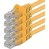 1aTTack - Cable de red UTP con conectores RJ45 (cat. 6) amarillo - 5 Unidades