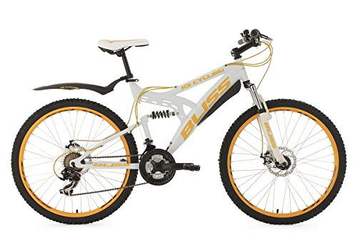KS Cycling Fahrrad Mountainbike Fully Bliss, Weiß/Gold, 26 Zoll, 531M