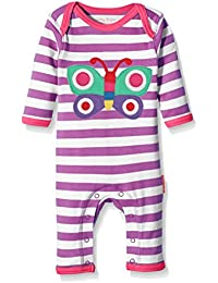 Toby Tiger Baby Girls' Butterfly Applique Sleepsuit Romper