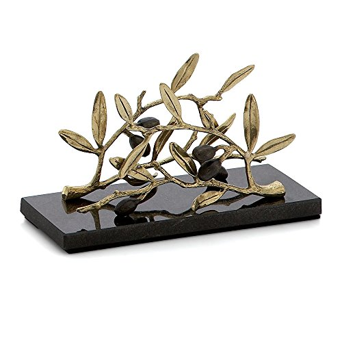 Michael Aram Olive Branch Vertical Napkin Holder, Gold by Michael Aram Michael Aram Olive