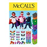 M6626 Children/Boys'/Girls' Cape, Belt, Cuffs And Masks, All Sizes