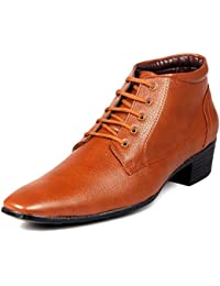 Bxxy Tan Height Increasing Corporate Casual Lace-Up Boots For Men