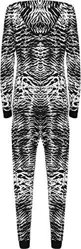 WearAll - Combinaison à capuche avec les imprimés variés - Combinaisons - Femmes - Tailles 36 à 42 Zèbre