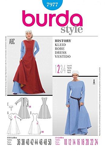 uster 7977-Premium Qualität-Historische Damsel Fancy Dress Kostüm ()
