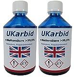 UKarbid-30-Liter-Buttersure-995-als-deutsche-Marke-eingetragen-In-konfortablen-500-ML-Flaschengebinden