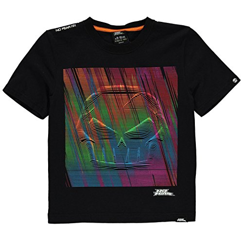 No Fear Kids Boys Junior Moto Graphic T Shirt Crew Neck