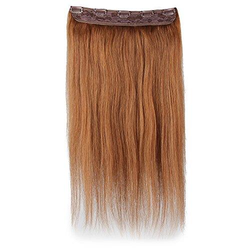 Beauty7 100g Extensions de Cheveux 8 Clips Humains à Clip 100% Remy Hair Haute Qualité #8 Couleur Marron Clair Longueur 60 cm
