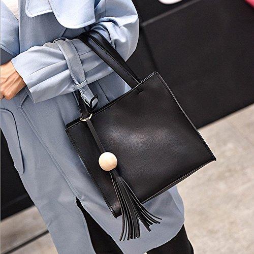 Longra Donne borsa di modo Nero