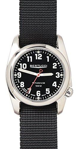 Bertucci 12095a-2t nylon nero unisex nero quadrante orologio intelligente