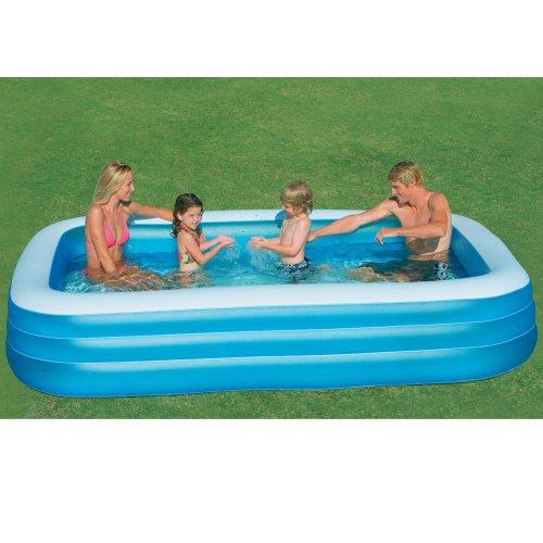 INTEX Familienpool, 3 große Sicherheitskammern, ca. 999 Liter, Ablaufventil // Pool Family Pool Schwimmbecken Familienpool Swimmingpool Planschbecken