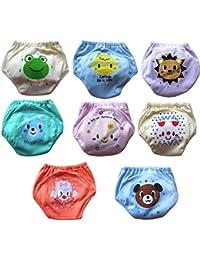 Babynice Lot de 8 Culotte d apprentissage sous-Vêtements Imperméable  Respirant Lavable Bébé Bébé 9a95e7555b7