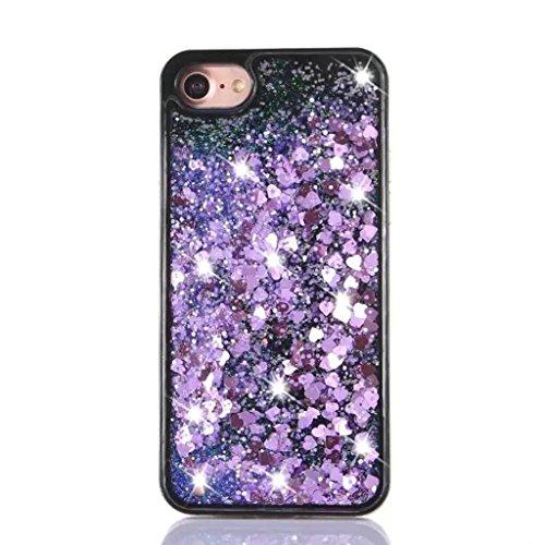 iPhone 6/6S Coque - 3D Design Créatif Prime Luxe Shine Flow Sand Adorable Flowing Flottant Mouvement Shine Glitter Sequins Bling Cute Pattern Téléphone Case pour iPhone 6/6S - Born to Shine 7-B