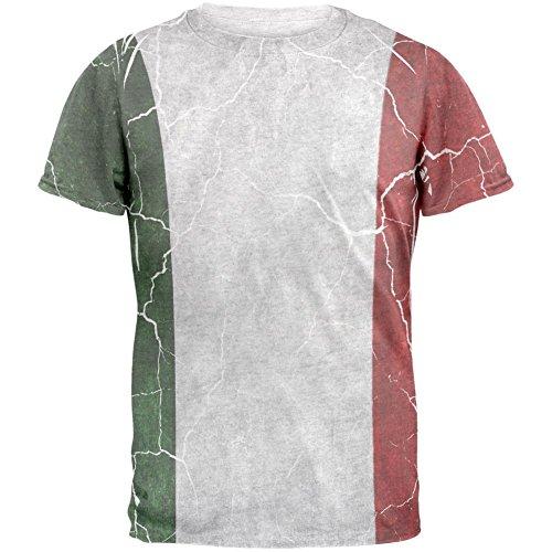 Distressed italienische Flagge Herren-T-Shirt White