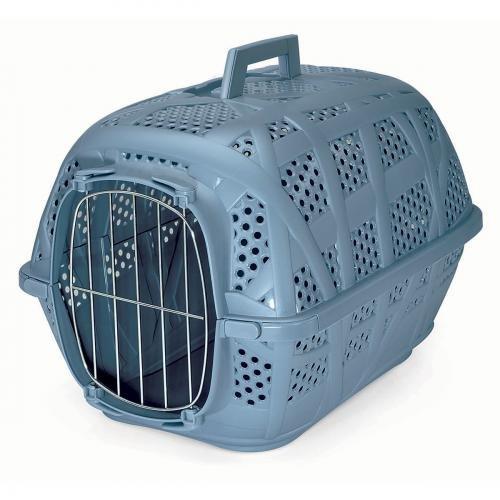'Transportbox Katze–Transportbox Carry Sport Metall 'M Hund und Katze–Blau