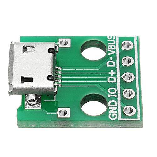 Zhanyiyi Modul 10 stücke Micro USB zu dip mikrofon buchse b typ mikrofon 5 p Patch zu dip mit löten Adapter Board