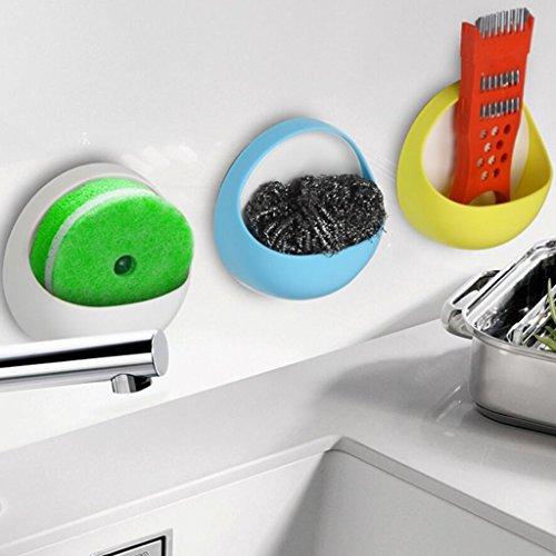 Xuan - Worth Having Supports en Plastique créatifs de boîte de Rangement de Support de Savon de Sucrerie de boîte de Savon d'aspiration (Couleur : Vert)
