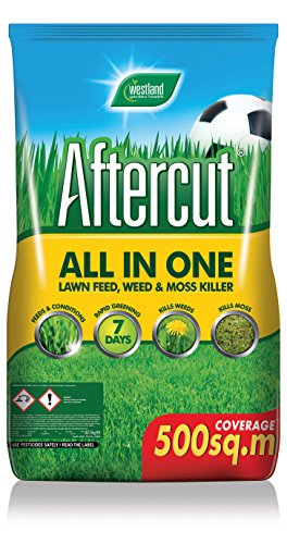 Aftercut All-in-One Lawn Feed, Weed and Moss Killer, 500 sq m, 17.5 kg