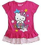 Hello Kitty Kollektion 2018 T-Shirt 92 98 104 110 116 122 128 134 Shirt Kurz Mädchen Sommer (Fuchsia, 116-122)