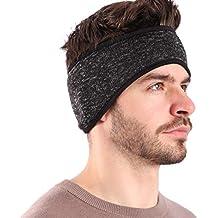 0199b4cb419caa Arcweg Stirnband Herren Winter Sport Pferdeschwanz Elastisch Kopfband Warm  Weich Ohrenschützer Atmungsaktiv Outdoor Ohrenwärmer für Joggen