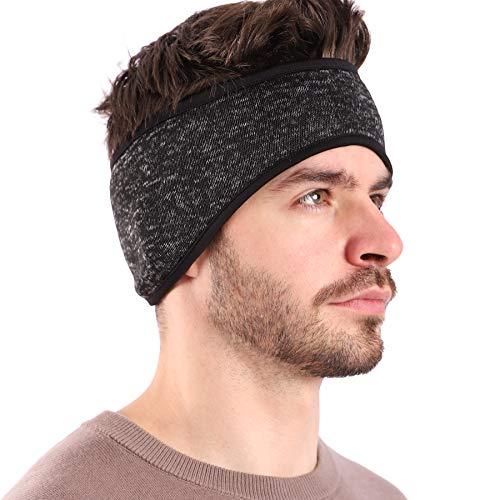 Arcweg Stirnband Herren Winter Sport Pferdeschwanz Elastisch Kopfband Warm Weich Ohrenschützer Atmungsaktiv Outdoor Ohrenwärmer für Joggen Wandern Wintersport