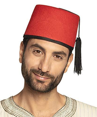 Kostüm Orientalische - Boland 04016 - Erwachsenenhut Fez Fadime, Einheitsgröße