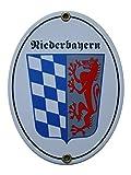Niederbayern Emailschild Emaille Schild Nieder Bayern 11,5 x 15 cm Grenzschild Email Oval.