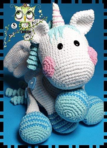 DRAGON UNICORNIO FANTASÍA PERSONALIZABLE ( Bebé, crochet, ganchillo, muñeco, peluche, niño, niña, lana ) AMIGURUMI