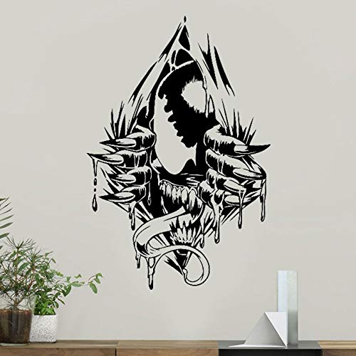 haotong11 Venom Wall Art Decal Venom Vinyl Aufkleber Superhero Marvel Comics Muster Jugend Zimmerdekorationen Removable Home Art Decor 57 * 85cm (Home Decor Marvel)