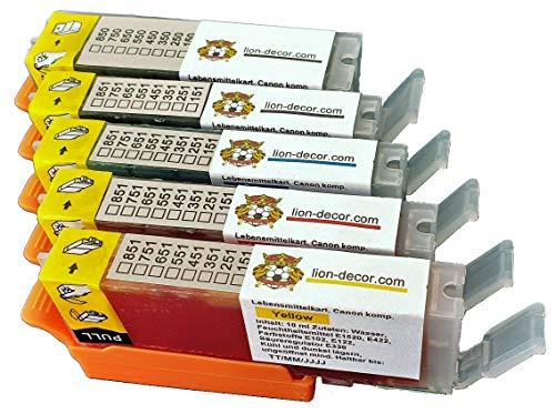 Set di cartucce con inchiostro alimentare con chip (PGI-570/CLI-571) per Canon MG5750, MG5751, MG5752, MG5753, MG6850, MG6851, MG6852, MG6853, TS5050,TS5051,TS5053,TS6050,TS6051,TS6052