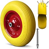 Brouette roue PU 4.80/4.00-8 4PR essieu rigide roue caoutchouc roue de secours