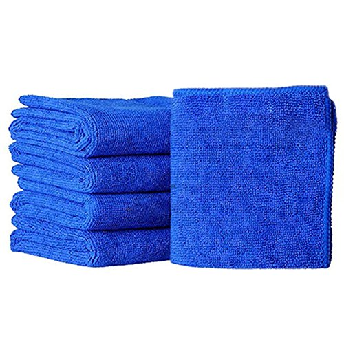 Micro Faser Handtücher für Auto reinigen, woopower 5x 25x 25cm Mikrofaser-Reinigungstuch Auto weichen Tuch abwischen Waschen Tuch Handtuch Duster 25* 25cm