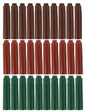 Sipliv approprié pour stylo plume Jinhao cartouche d'encre, la taille standard, paquet de 30 PCS, trois couleurs d'encre (brun, rouge, vert)