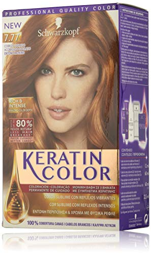 Keratin Color Schwarzkopf Tono 7.77 Rojo Escarlata
