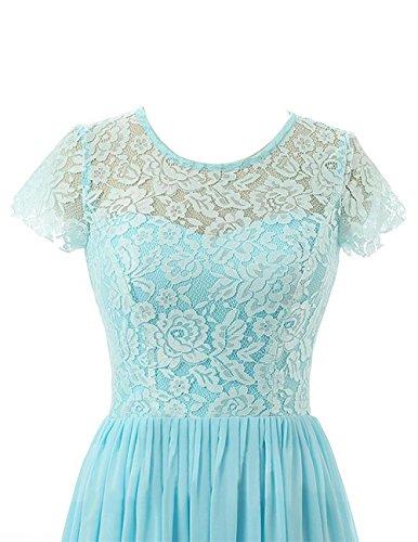 Beonddress Damen Lange Brautjungfer Kleid Chiffon Abendkleid Abendkleid mit Ärmeln Burgund