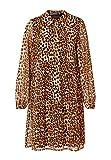 HALLHUBER Georgette-Kleid mit Leo-Print A-Linie Multicolor, 36