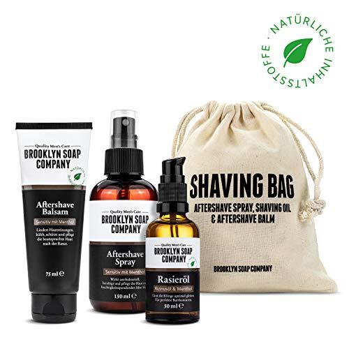 Brooklyn Soap Company Brooklyn soap company: shaving bag · hochwertiges rasur-set für männer · aftershave balsam aftershave spray und rasieröl