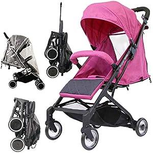 iSafe Super Mini Stroller - Pink (Super Small & Lightweight)   2